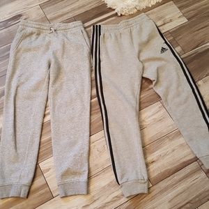 Adidas and Old Navy boys gray sweatpants